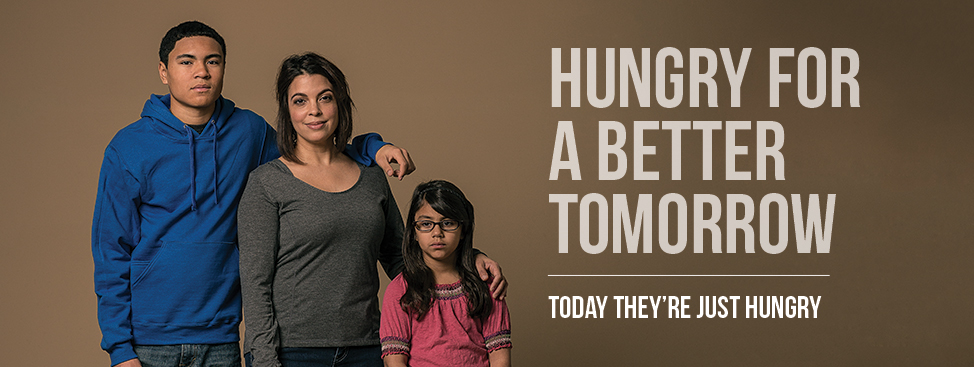 Hungry for a better tomorrow. Today they're just hungry.