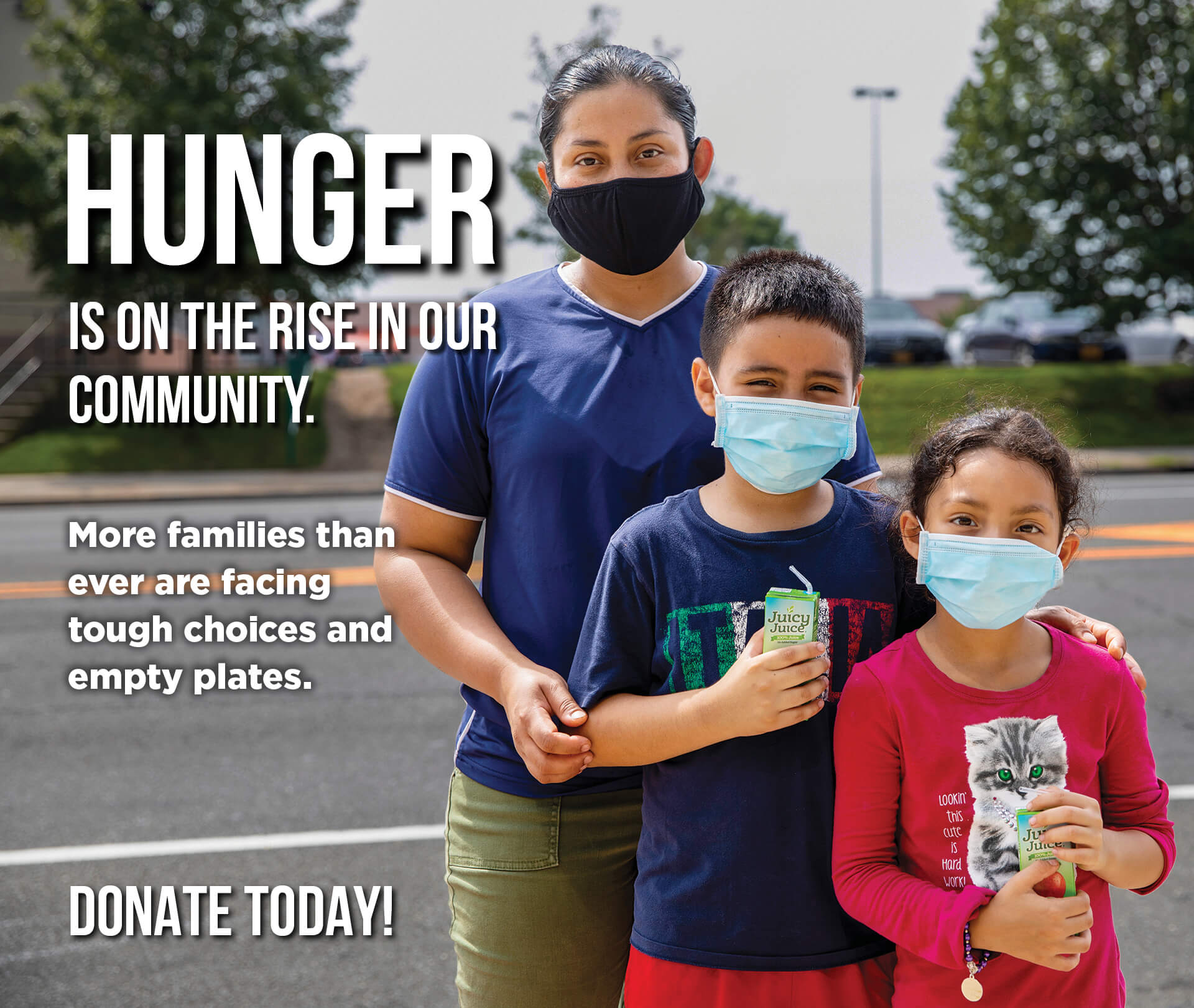 Hunger is on the rise in our community.